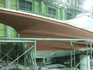 ルアー船船体塗装