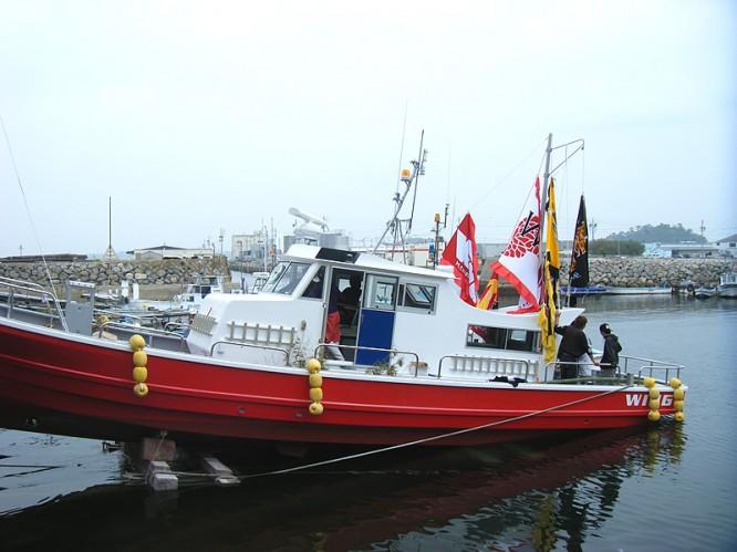 ルアー船進水